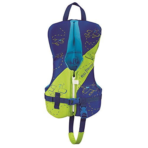 Full Throttle Infant Hinged Rapid-Dry Flex-Back Life Jacket, Green