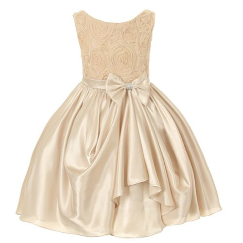 Image result for Champagne Bridesmaid Dress White Flowers