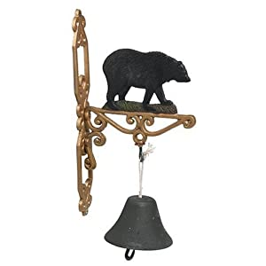Sunset Vista Designs Wilderness Wonders Bear Bell, 14-Inch Tall