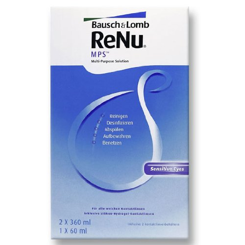 Bausch & Lomb Renu MPS Pflegemittel für weiche Kontaktlinsen, Bigbox 2x 360 ml