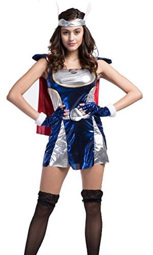 女 勇者 コスプレ RPG ゲーム 勇者 コスチューム ワンピース 手袋 髪飾り Tバック 4点セット 大人 フリーサイズ