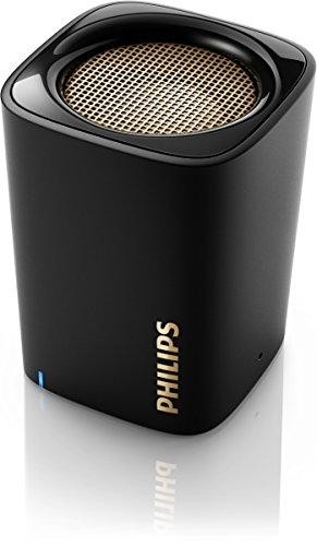 PHILIPS JAPAN フィリップス 【Bluetooth対応】 ワイヤレス ポータブルスピーカー ブラック BT100B
