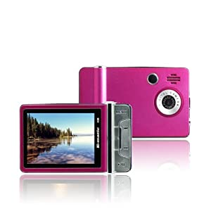 Ematic 4 GB Video MP3 Player with 2.4-Inch Screen, Built-in 5MP Digital Video Camera, FM Radio, TV Out, and Speaker (Pink)