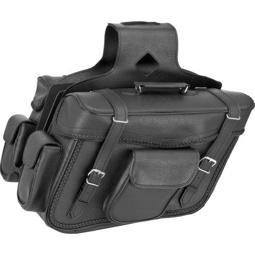 16in 59589-00 x 6.5in. x 11in Dowco Black Jack Large Slant Saddlebag