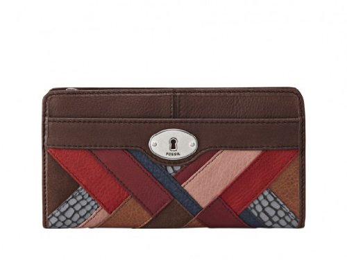 Fossil Maddox Zip Clutch - Dark Patchwork