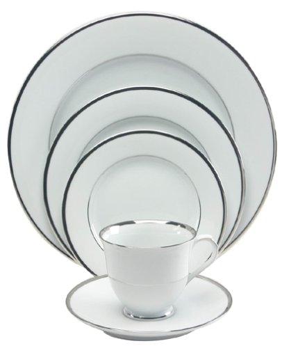 Nikko Ceramics Band of Platinum 5-Piece Dinnerware Place Setting