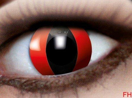 1 Paar farbige Kontaktlinsen rote Katze12 monats Linse