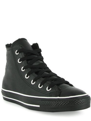 Converse CT AS Hi Leather Black 118802, Unisex - Erwachsene Sneaker, Schwarz (black), EU 37.5 (US 5)