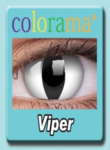 Farbige Kontaktlinsen Crazy Motivlinsen Kostüm Karneval VIPER - Mit Verdrehschutz!!