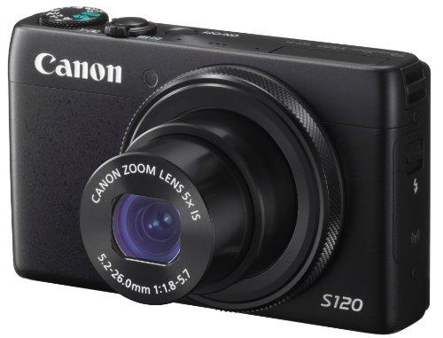 Canon デジタルカメラ PowerShot S120(ブラック) F値1.8 広角24mm 光学5倍ズーム PSS120(BK)