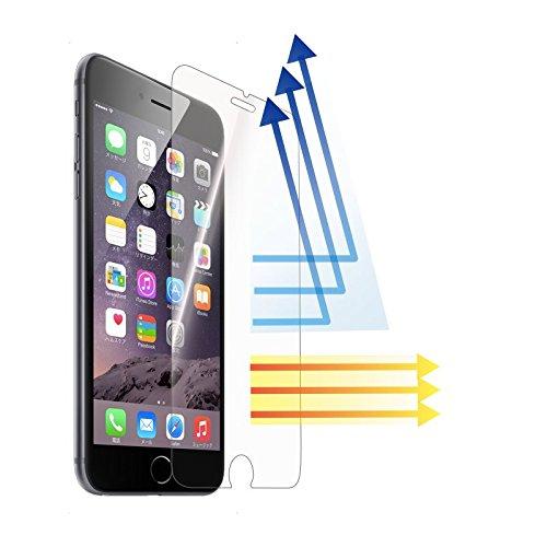 QNQ ブルーライトカット 液晶保護フィルム ガラスフィルム iPhone 6s / iphone 6 薄さ0.3mm 日本製素材旭硝子 3Dtouch対応 4.7インチ 硬度9H