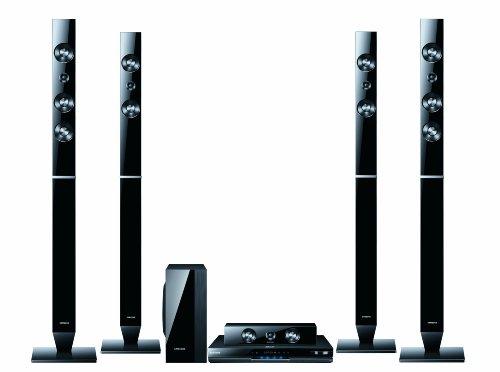 Samsung HT-D5550 5.1 3D-Blu-ray-Heimkinosystem (USB, HDMI, iPod-Dock) perlschwarz
