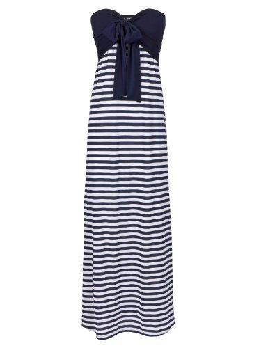 FourFlavor Langes Kleid im Marine-Look