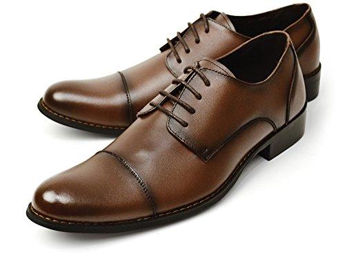 (ビリレ) VIRILE 本革 日本製 幅広 3EEE ビジネスシューズ 革靴 紳士靴 メンズ シューズ ビジネス フォーマル 28cm 【A】780 ダーク ブラウン