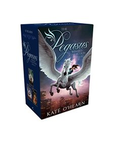 The Pegasus Winged Collection Books 1-3: The Flame of Olympus; Olympus at War; The New Olympians by Kate O'Hearn| wearewordnerds.com