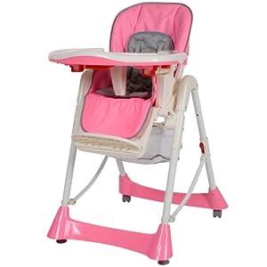 TecTake Chaise Haute De Bb Pour Enfants Grand Confort
