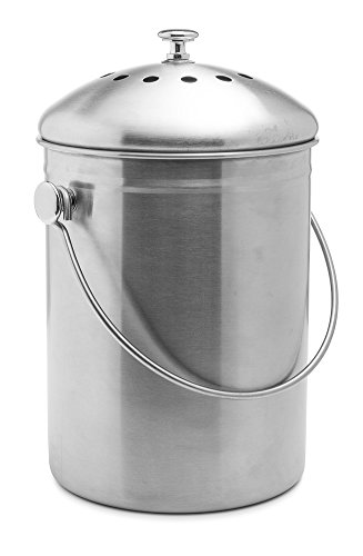 Top-Rated-Epica-Stainless-Steel-Compost-Bin-13-Gallon-Includes-Charcoal-Filter