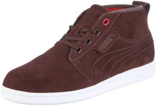 Puma Hawthorne Mid 351287, Herren, Sneaker, Braun (chocolate brown-white-ribbon red 09), EU 43 (UK 9) (US 10)