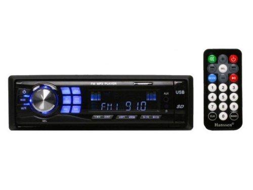 Autoradio Hanssen HH-9016 MP3 AM/FM SD/MMC Speicherkarten Slot LCD Display USB Anschluss AUX + Fernbedienung ohne CD