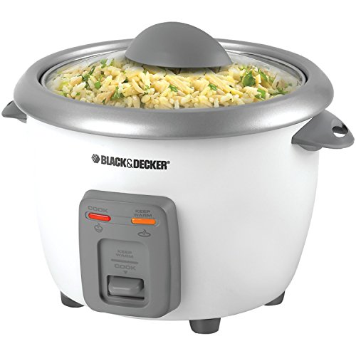 BLACK+DECKER RC3406 3-Cup Dry/6-Cup Cooked Rice Cooker, White