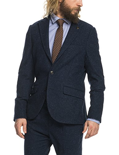 Scotch & Soda Herren Classic jacke with peak lapel in wool quality