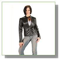 Ladies Biker Style Jacket Black