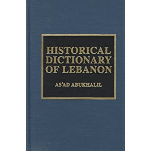 Image result for PHOTOS OF Historical Dictionary of Lebanon