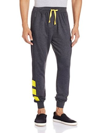 Body Tantrum Men's Track Pants (BTADCB_34W x 31L_Charcoal Black)