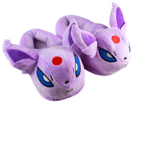 Fatflyshop - Pokemon Espeon Anime Cartoon Plush Indoor Bedroom Winter Warm Slipper 11