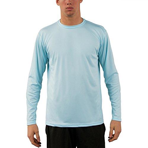 Vapor apparel men s upf long sleeve solar performance t for Mens long sleeve uv protection shirt