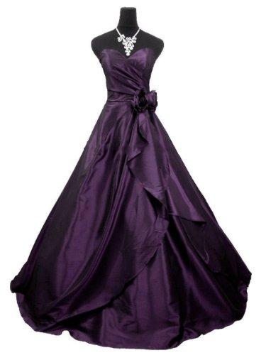 Qpid Showgirl Abendkleid mit A-Linie Rock verfügt über eine geriffelte Seite drapieren, Farbe Lila, 3506PU