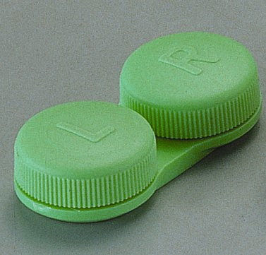 Flachbett Kontaktlinsenbehälter - GREEN ~ (3 pack)