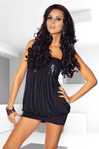 LH Dessous 11920 schwarz Größe S-M. Club-Kleid. Als Ballon-Kleid geschnitten inklusive passendem Stringtanga