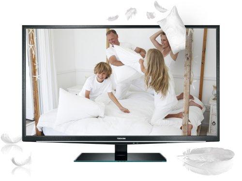Toshiba 46TL838G 117 cm (46 Zoll) 3D LED-Backlight-Fernseher, Energieeffizienzklasse A (Full-HD, 200Hz AMR, DVB-T/-C, CI+, HBBTV) schwarz