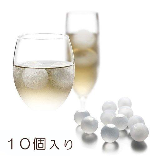 繰り返し使える「溶けない魔法の氷」クリスタルアイスボール(10個入り)