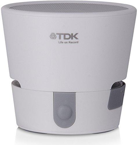 【Amazon.co.jp限定】 TDK Life on Record Bluetoothモノラル ワイヤレススピーカー 安心の防水設計(IPX4準拠) TREK MINIシリーズ フラストレーションフリーパッケージ (FFP) ホワイト  AT-A08WH-FFP