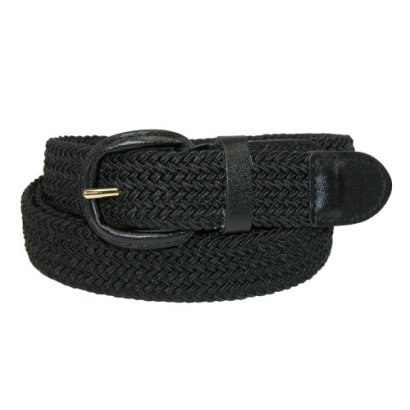CTM-Mens-Elastic-Braided-Belt-with-Covered-Buckle-Big-Tall-Available