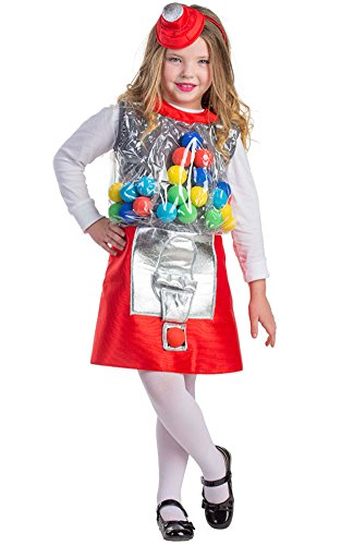 Gumball Machine Costume - Size Medium 8-10