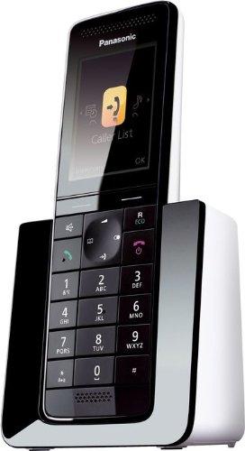 Panasonic KX-PRS110SPW - Teléfono fijo digital, negro
