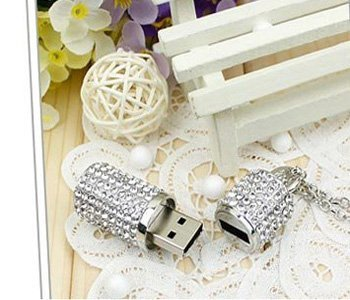 High Quality 8gb Crystal Lipstick Case Jewelry USB Flash Memory Drive Necklace