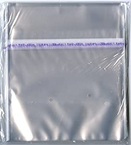 Amazon.com : 100 Resealable Plastic Outer Sleeves for 7 ...
