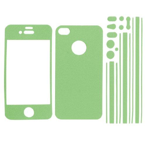 uxcell デコレーションシール フロントバックステッカー サイドステッカー 自己接着 iPhone 4 4S用 グリーン