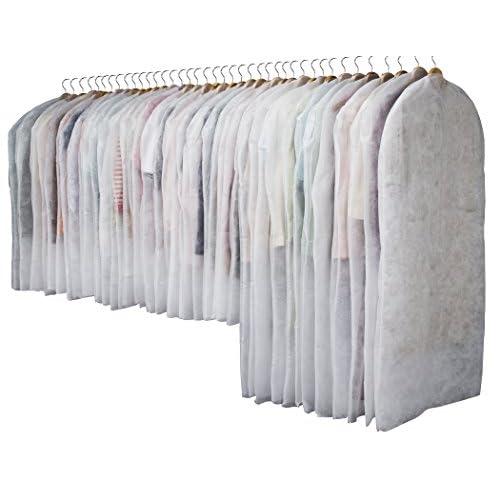 洋服カバー 40枚セット(通常サイズ30枚+ロングサイズ10枚 ホワイト)