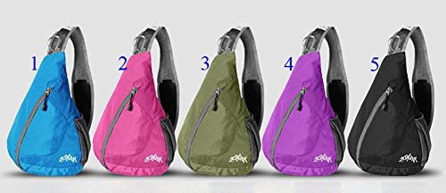 b4c420b82557 WATERFLY Packable Shoulder Backpack Sling Chest CrossBody Bag Cover Pack  Rucksack for Bicycle Sport Hiking Travel Camping Bookbag Men Women
