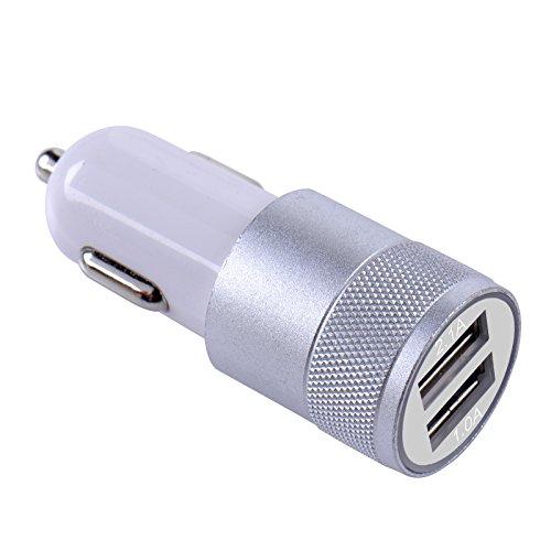 スマートフォン 車載 usb 携帯電話 チャージャー 充電器 車載用 アダプター usb 車載用品 携帯電話アクセサリ 携帯 充電 2ポート 3.1A シルバー