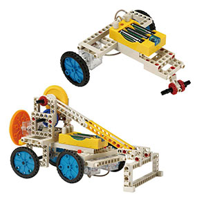 Build 10 remote control models including another bulldozer and a three-wheeler
