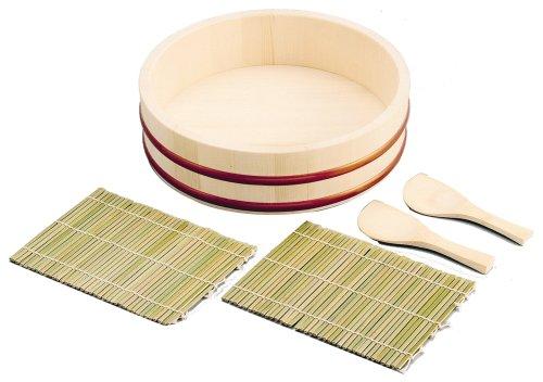 パール金属  NEWエンジョイパーティー 手巻き寿司 5点セット (桶27cm) D-472