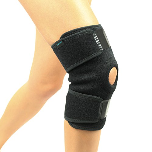 Knee Brace by Vive - Best Support Brace for Knee Pain Problems like Arthritis in Ligaments, ACL Issues, Hyperextension and More - Tighly Wraps Swollen Knees and Secures Joints - Lifetime Warranty