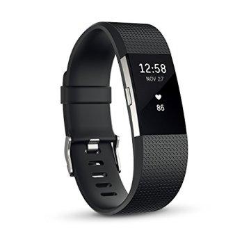 【日本正規代理店品】Fitbit 心拍計+フィットネスリストバンド Charge2 Large Black  FB407SBKL-JPN