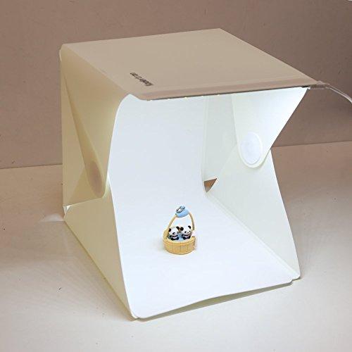 Koolertron 折り畳み式 ミニ ポータブル 簡単組立 撮影用ボックス テント 簡易スタジオ LED ライトボックス スマートフォン デジタルカメラ・デジタル一眼レフカメラ用